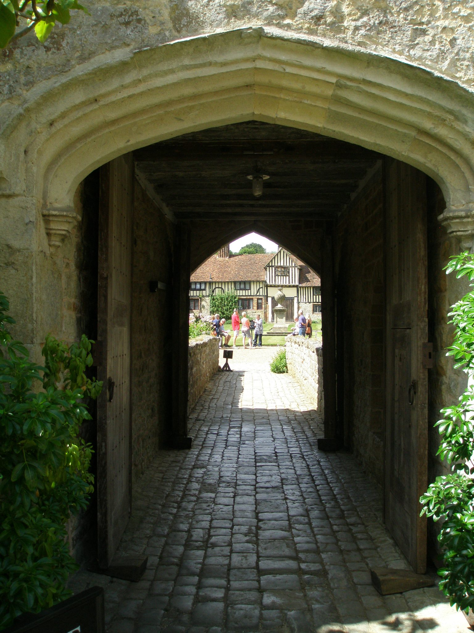 We leave the Courtyard, and head outside over the West Bridge. The Cottages are in the distance.