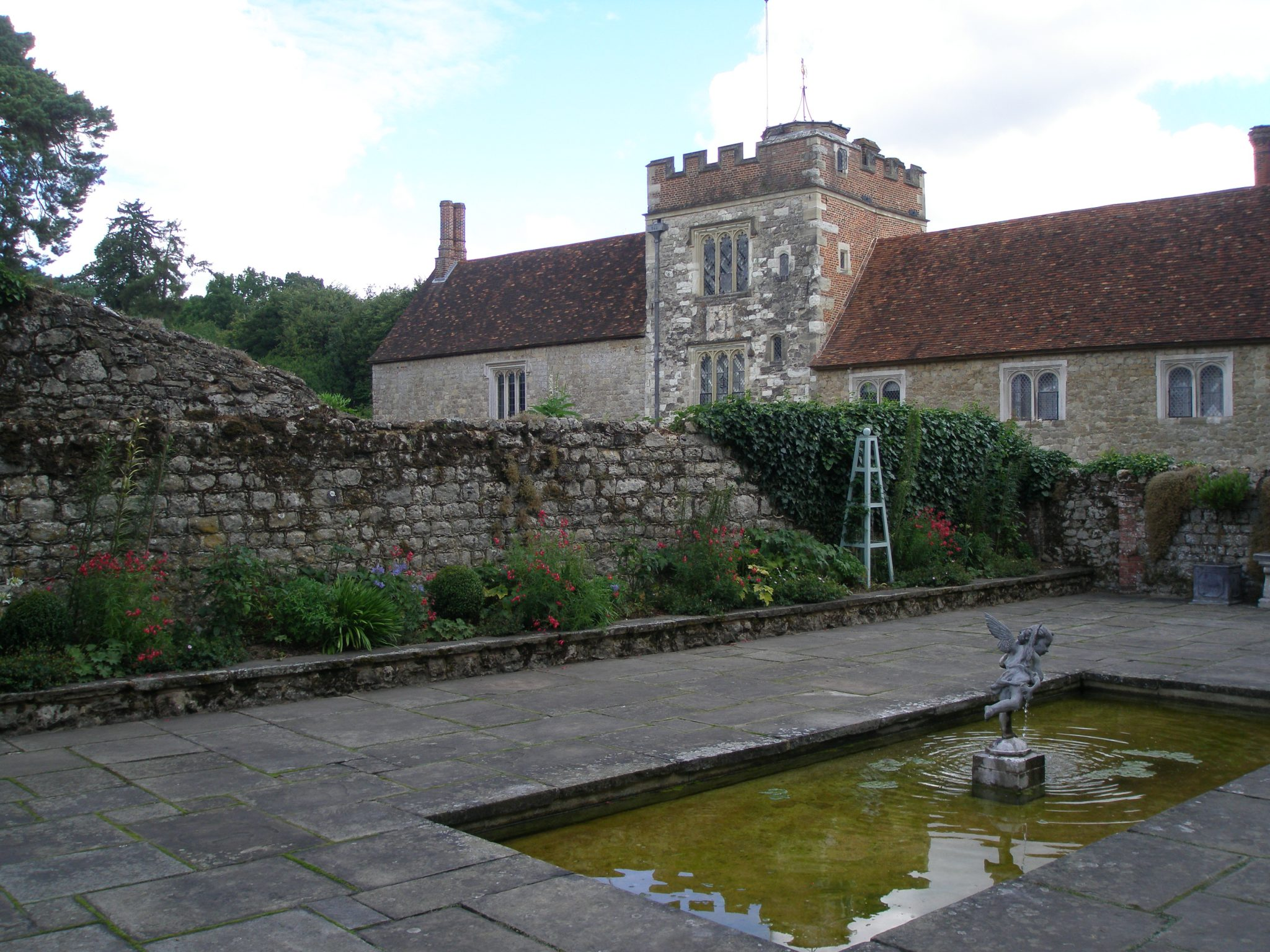 View toward the Main House, from the Walled Pool Garden