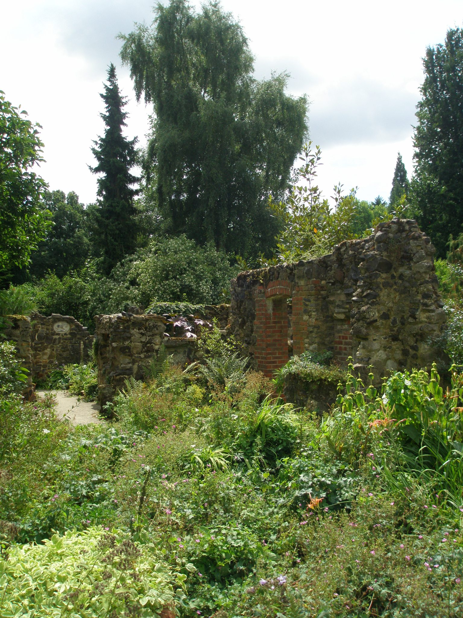We come upon the first of many Ruins. All of the ironstone in the Garden was dug on-site.