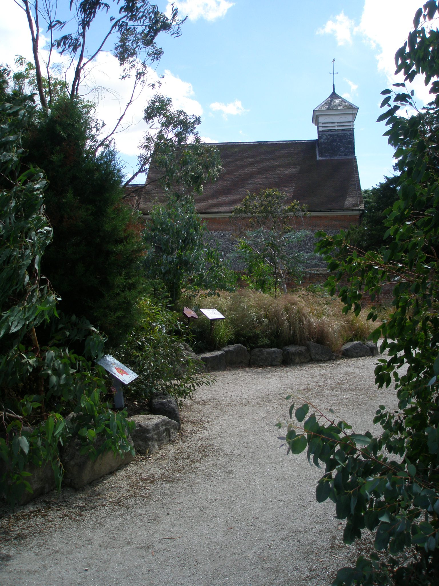 View of the Chapel, from within The World Garden