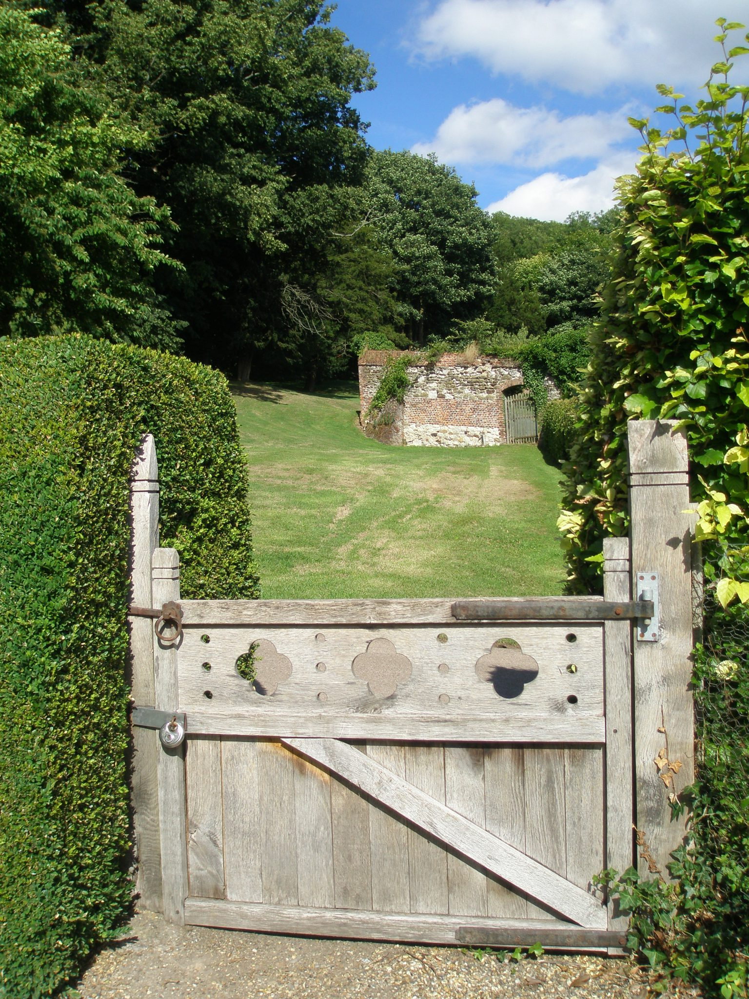 An inviting gate, along the path to the Main House
