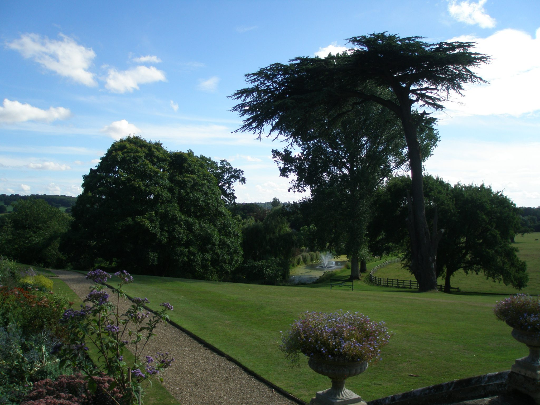 View from the front of the House, down over the Arboretum, toward the Spring and the Lakes