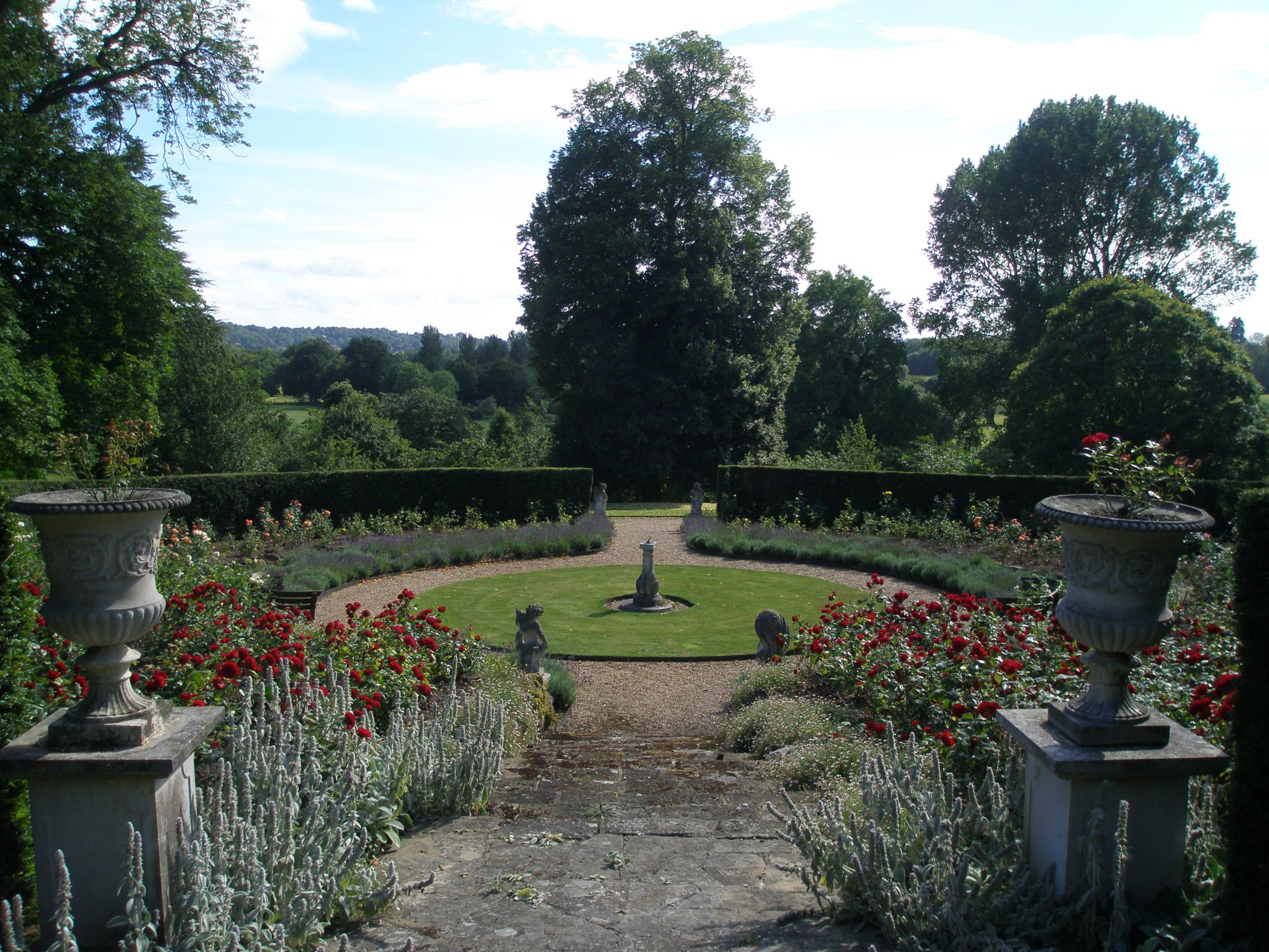View from the top of the Golden Jubilee Rose Garden