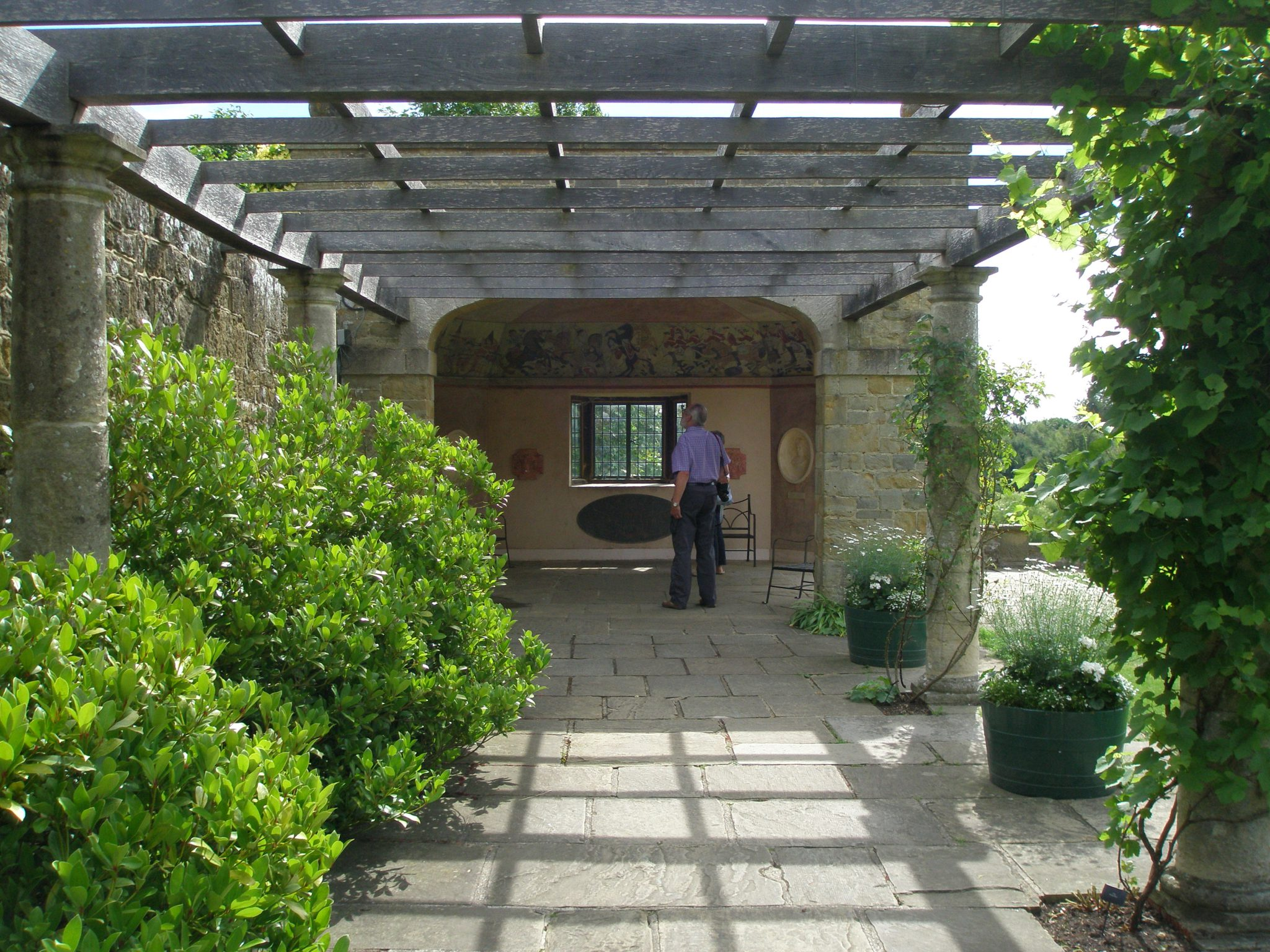 Leaving the Rose Garden, we followed a path to a Pergola, which leads to the Marlborough Pavilion.