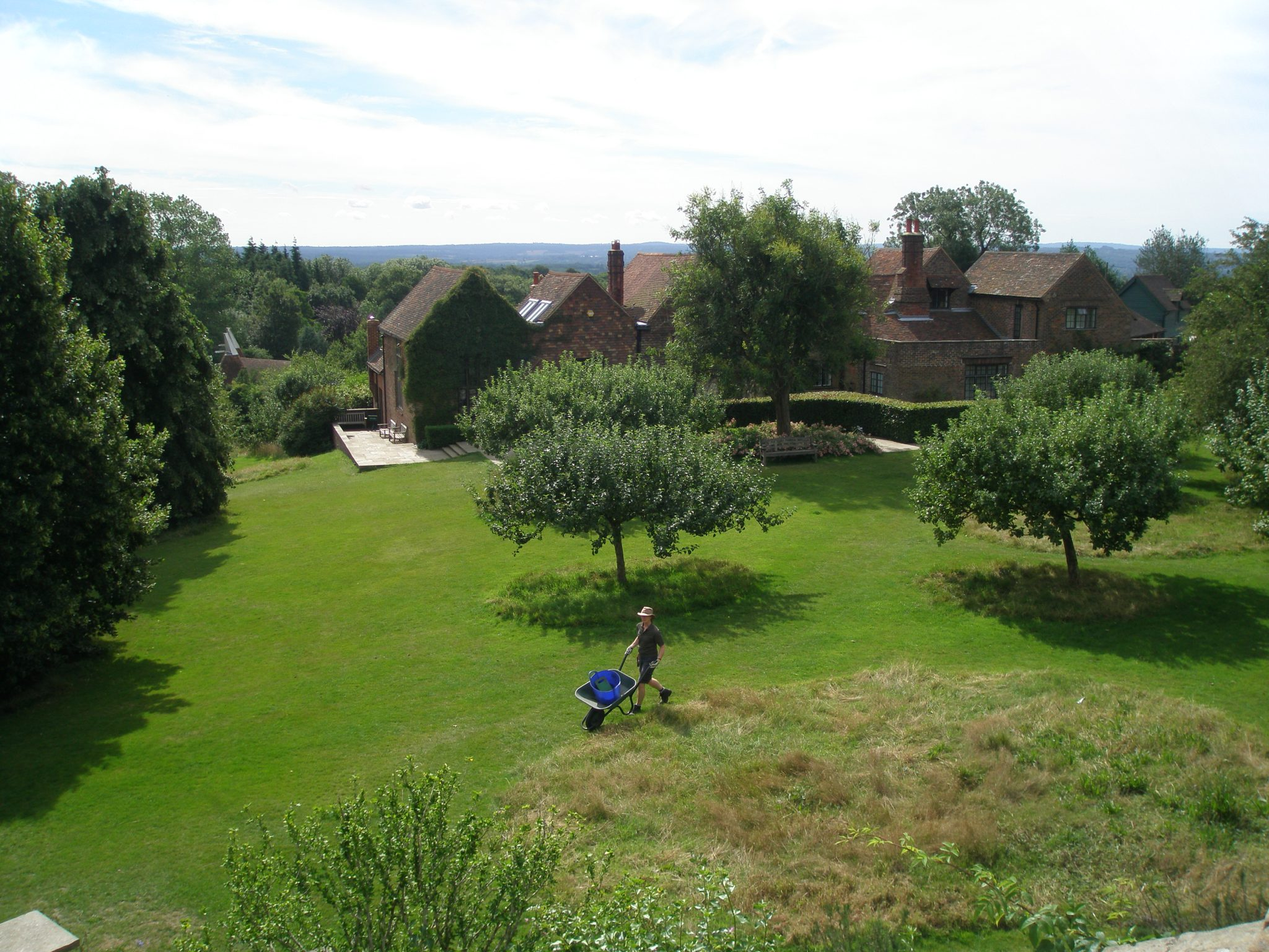 View from the terrace below the Dining Room, out toward the Studio.