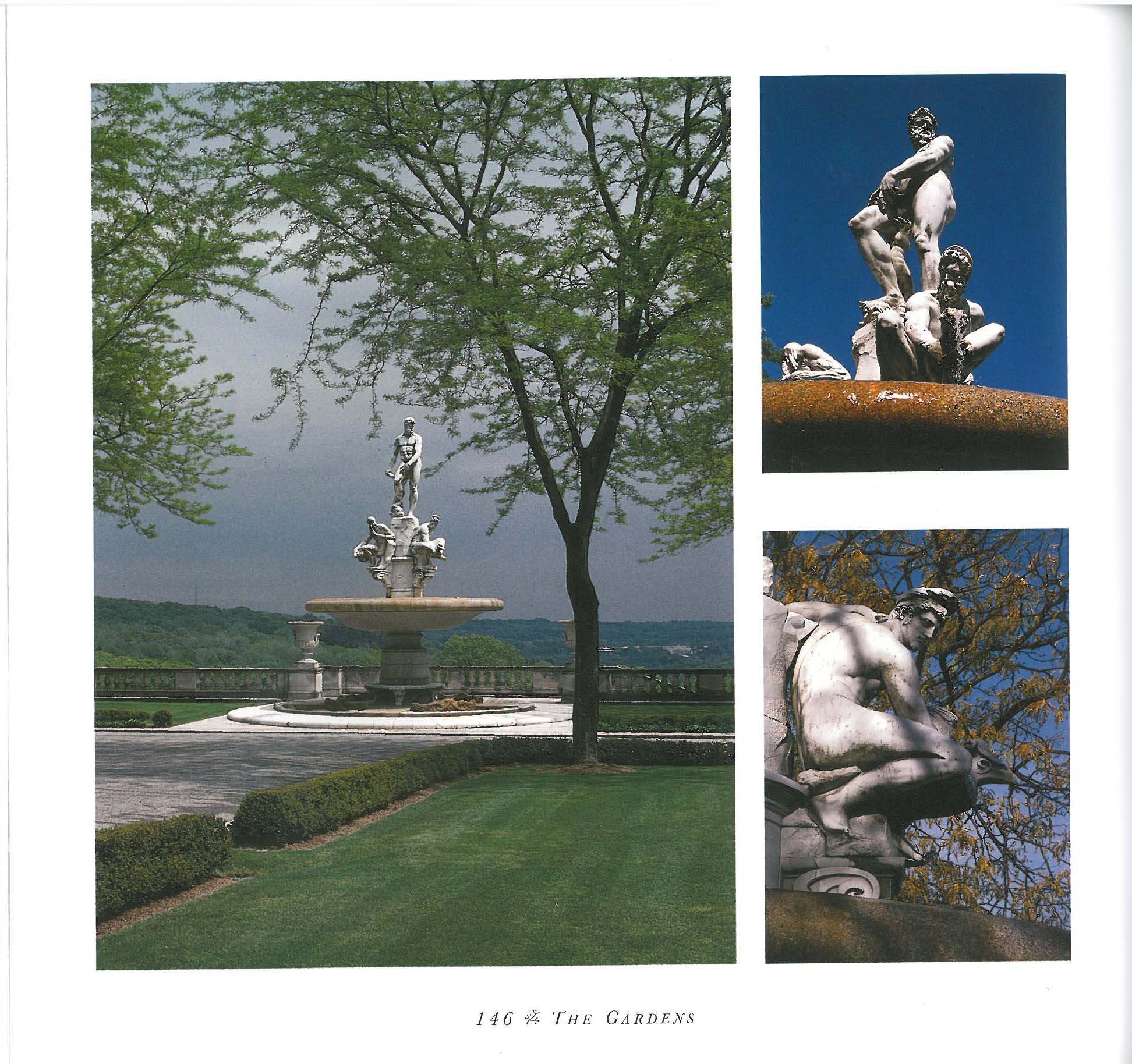 "Kykuit's Oceanus Fountain, in better weather. Image courtesy of ""The Rockefeller Family Home: Kykuit,"" by Ann Rockefeller Roberts"