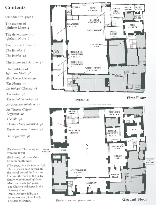 Plan of Main House, at Ightham Mote. Image courtesy of The National Trust.