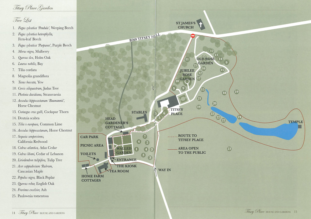 Map of the Grounds at Titsey Place. Image courtesy of Titsey Place & Gardens