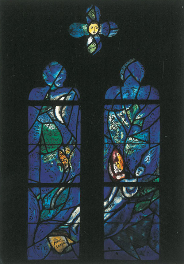 Window by Marc Chagall, at All Saints Church. Image courtesy of All Saints Church.