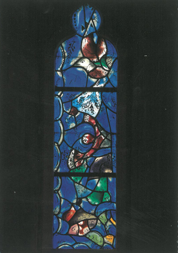 Window by Marc Chagall, at All Saints Church. Image courtesy of All Saints Church