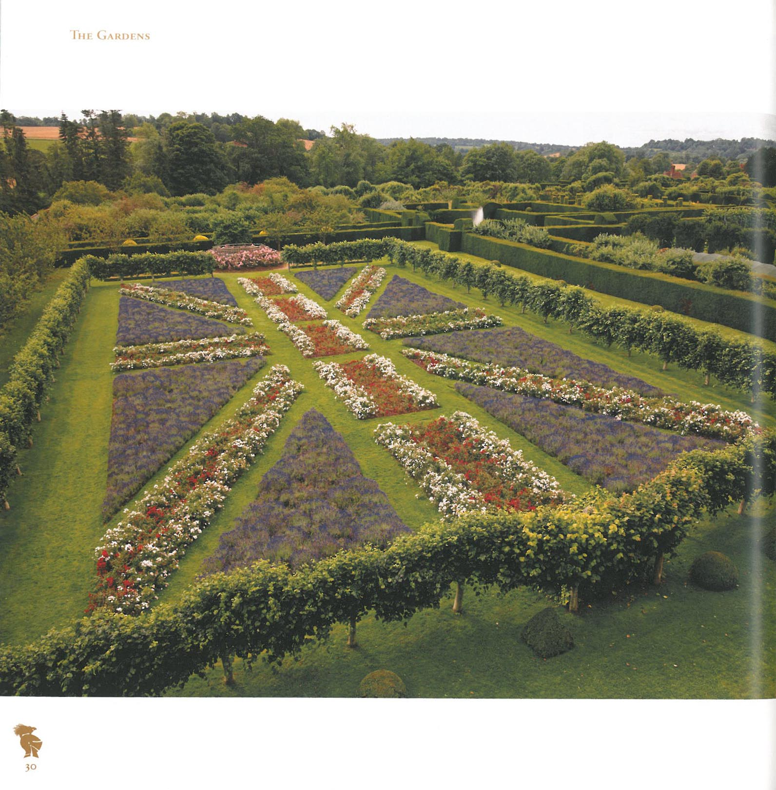 A Sparrow's-eye view of the Union Flag Garden. Image courtesy of Penshurst Place.