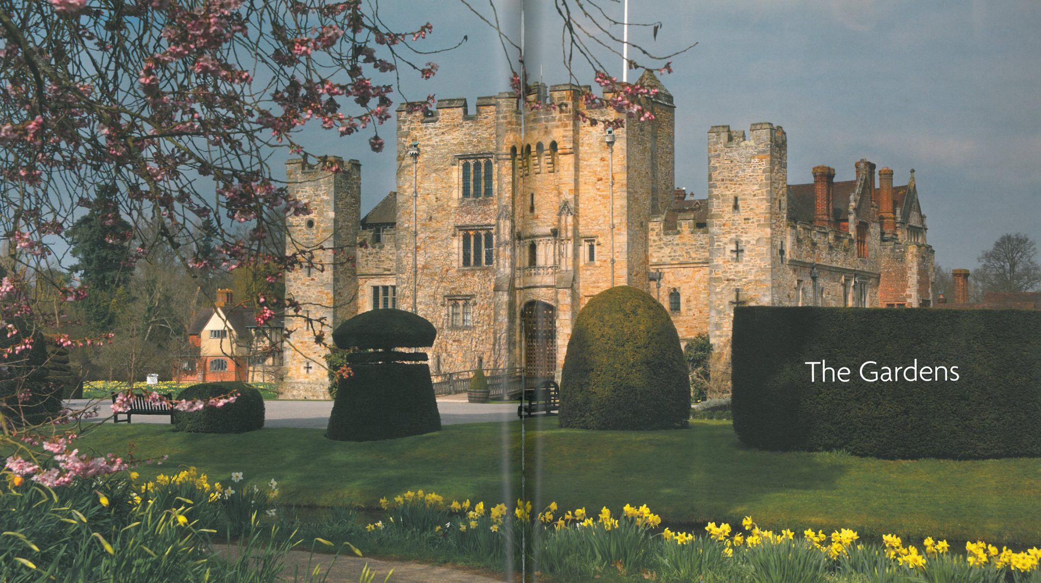 The Gardens directly adjacent to Hever Castle. Image courtesy of Hever Castle.