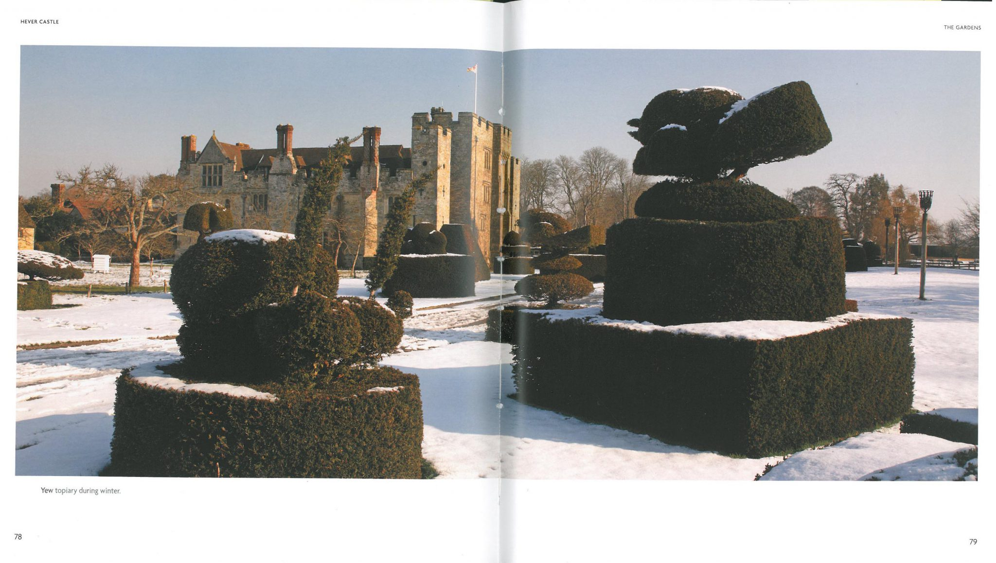 What Hever Castle's moat-side garden probably looks like, right now. Image courtesy of Hever Castle.