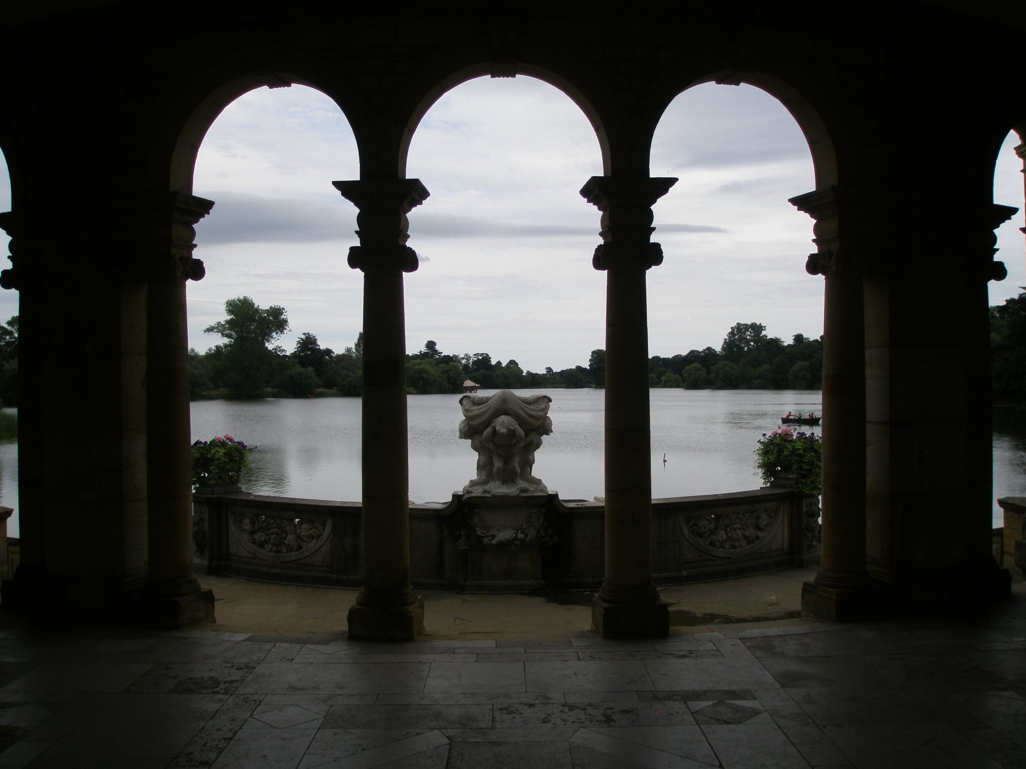 Our view from the Loggia, over the Lake, on a cloudy August morning.