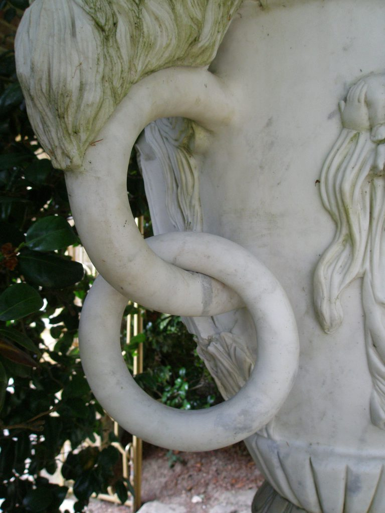 Detail of marble rings on Urn