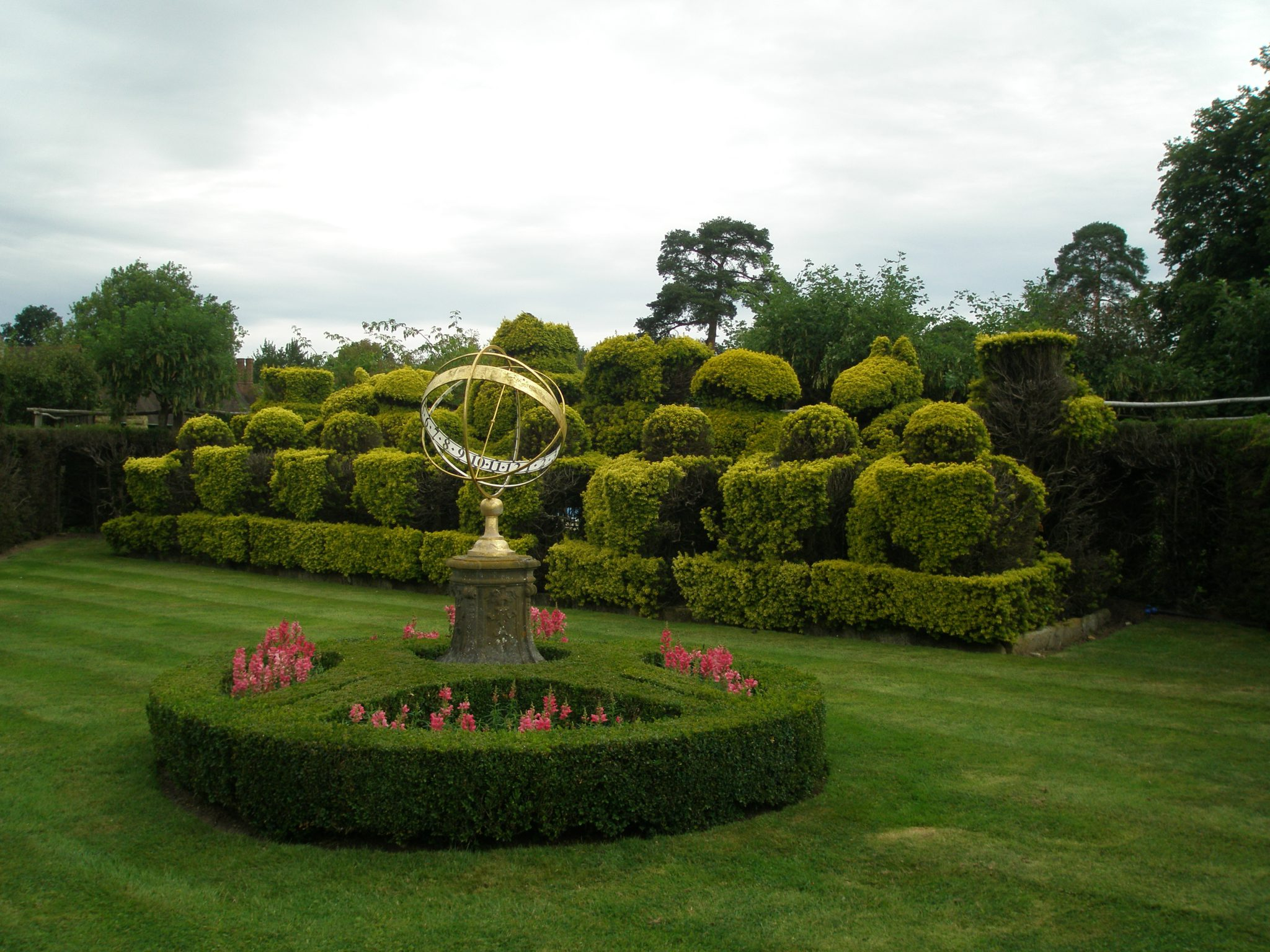 A Giant Topiary Chess Set adorns the Tudor Garden