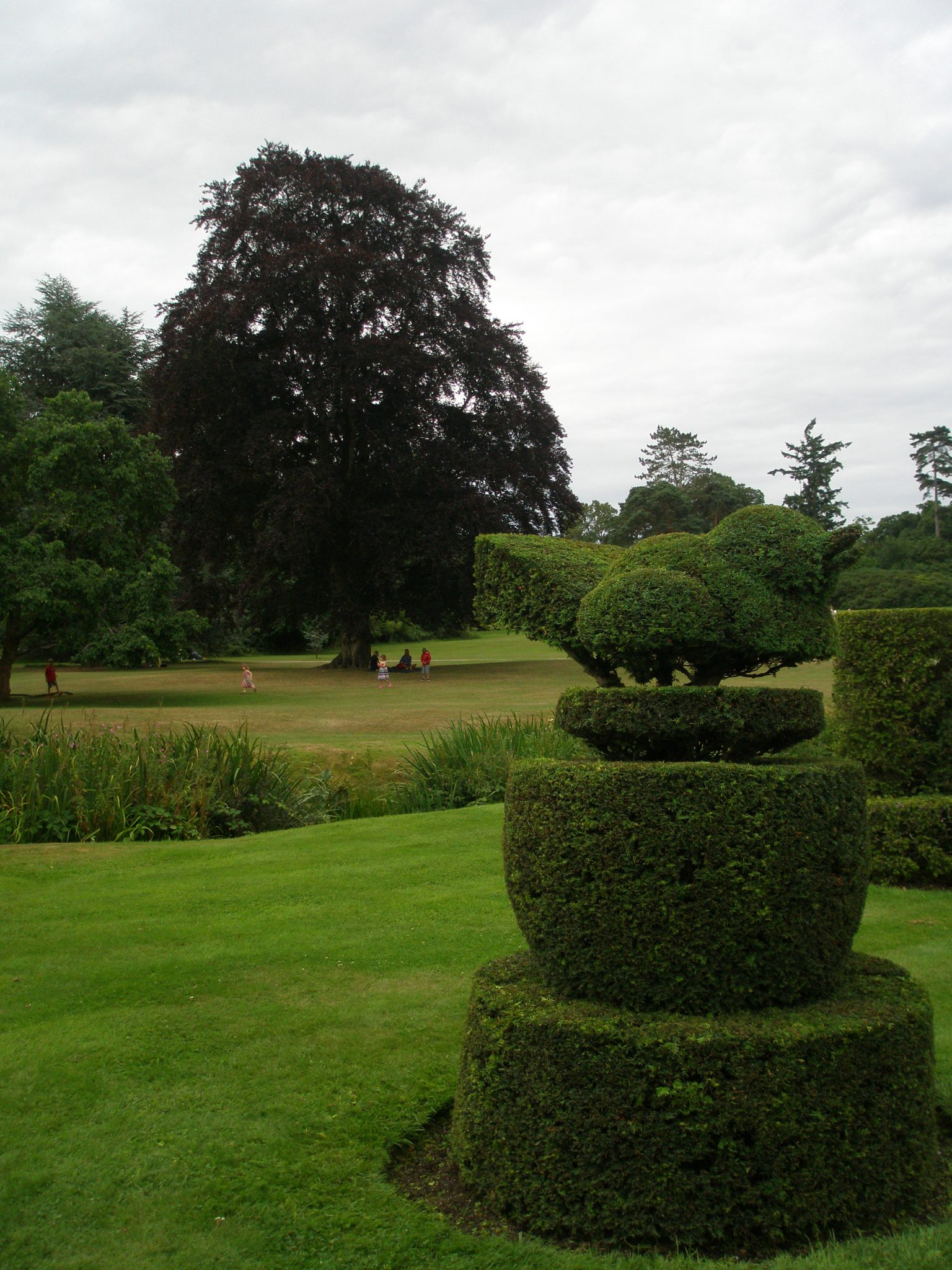 Topiary Fantasies decorate the lawn in front of Hever Castle
