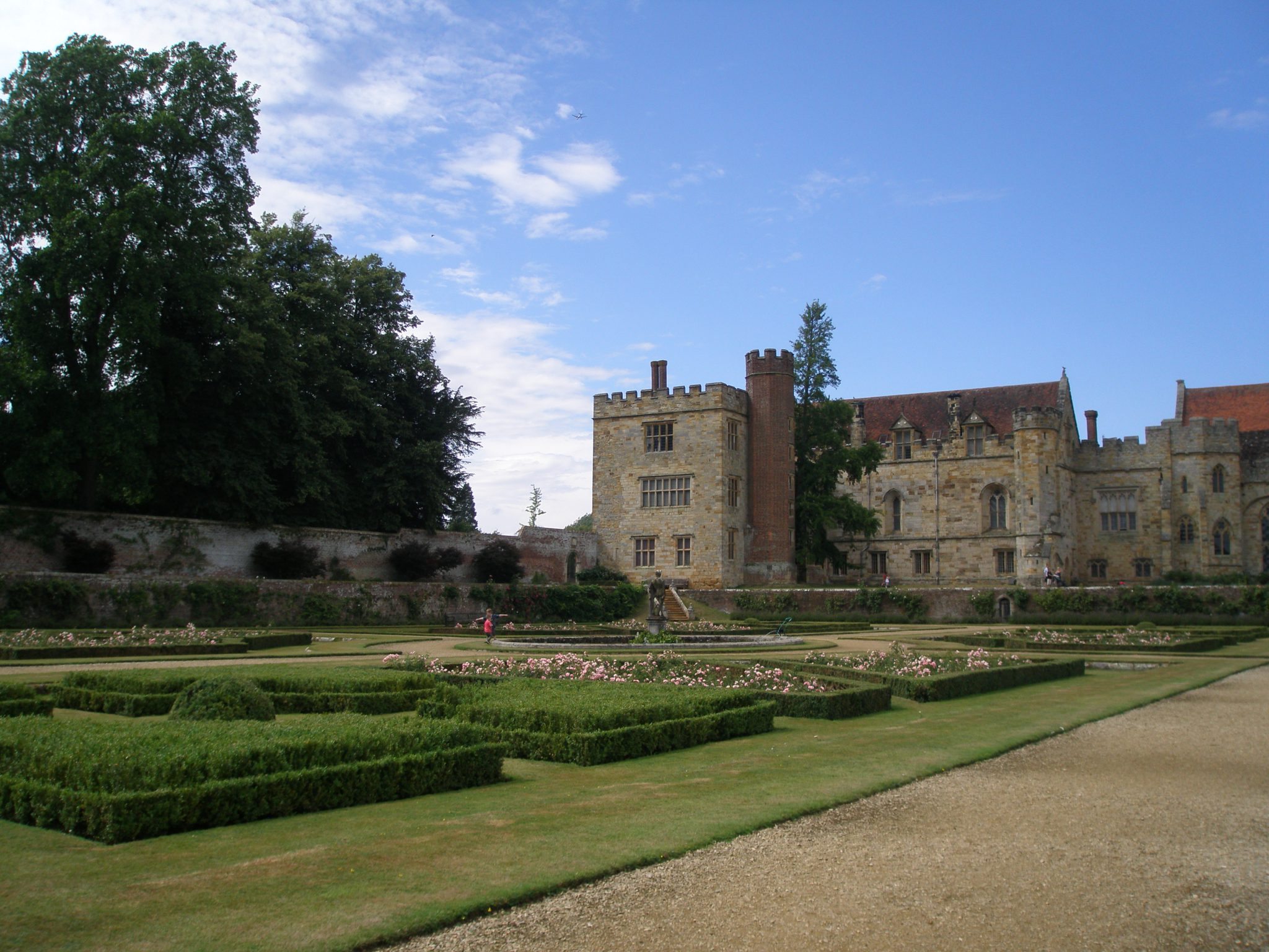 Our first view of the Italian Garden, or Parterre Garden, and the south face of the House. Sir Henry Sidney built the Italian Garden in the 1560s.