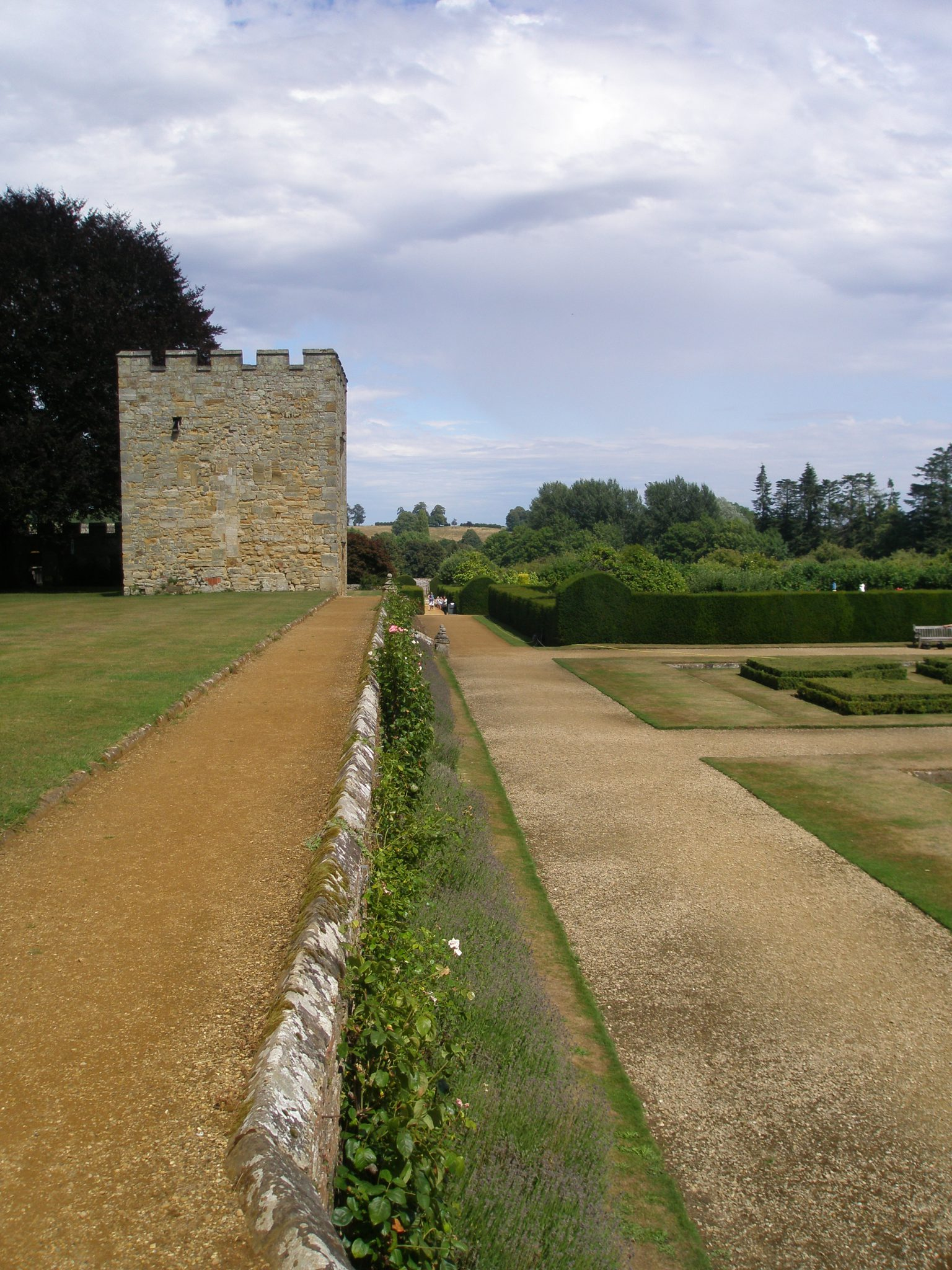 The Blue & Yellow Border runs along the length of the South Lawn. The Garden Tower looms...