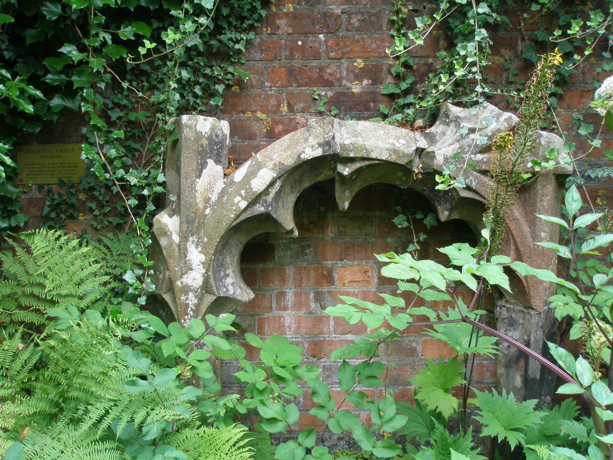 Wall detail in the Secret Garden