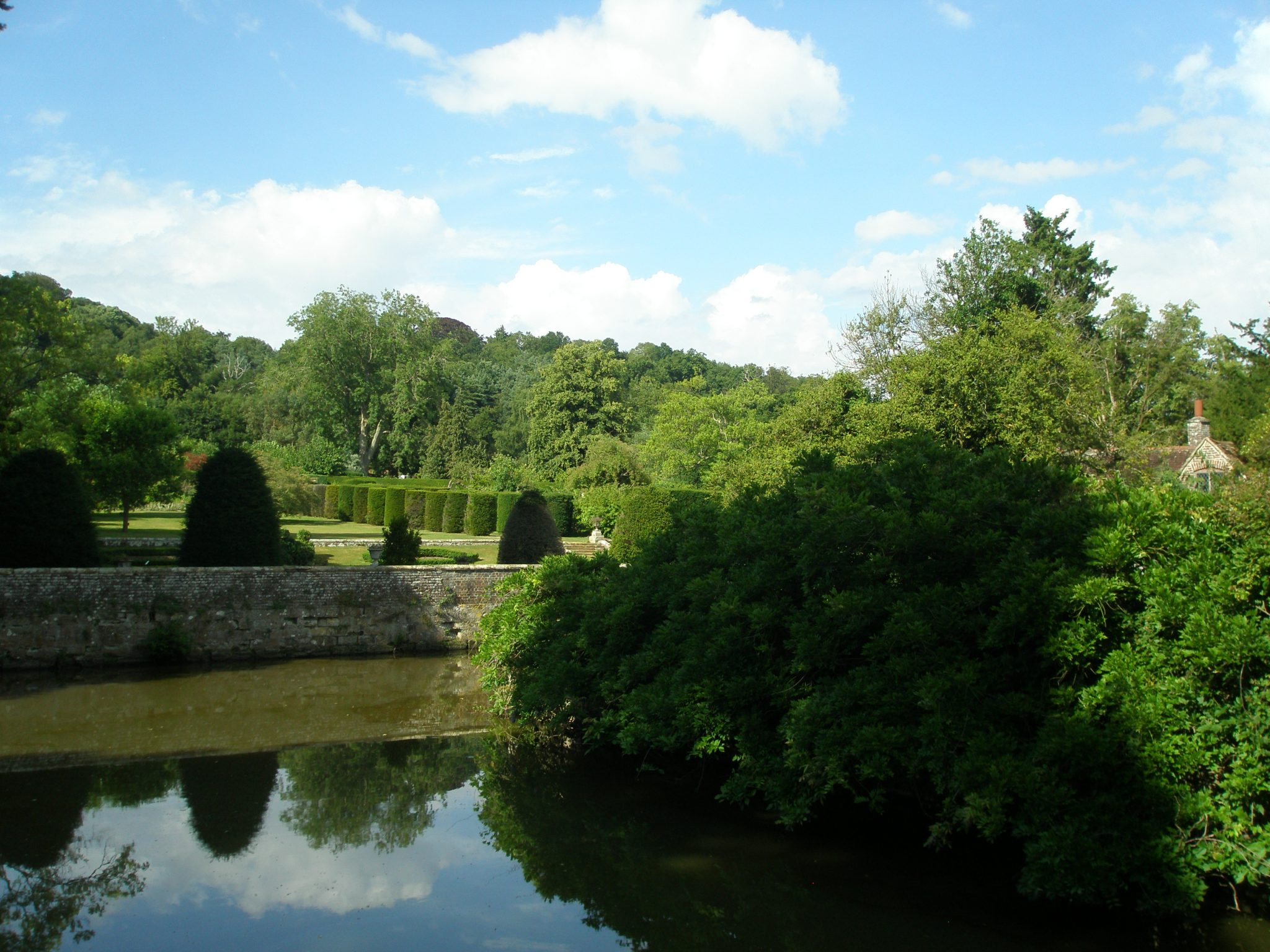 View of Gardens, from the Front Bridge