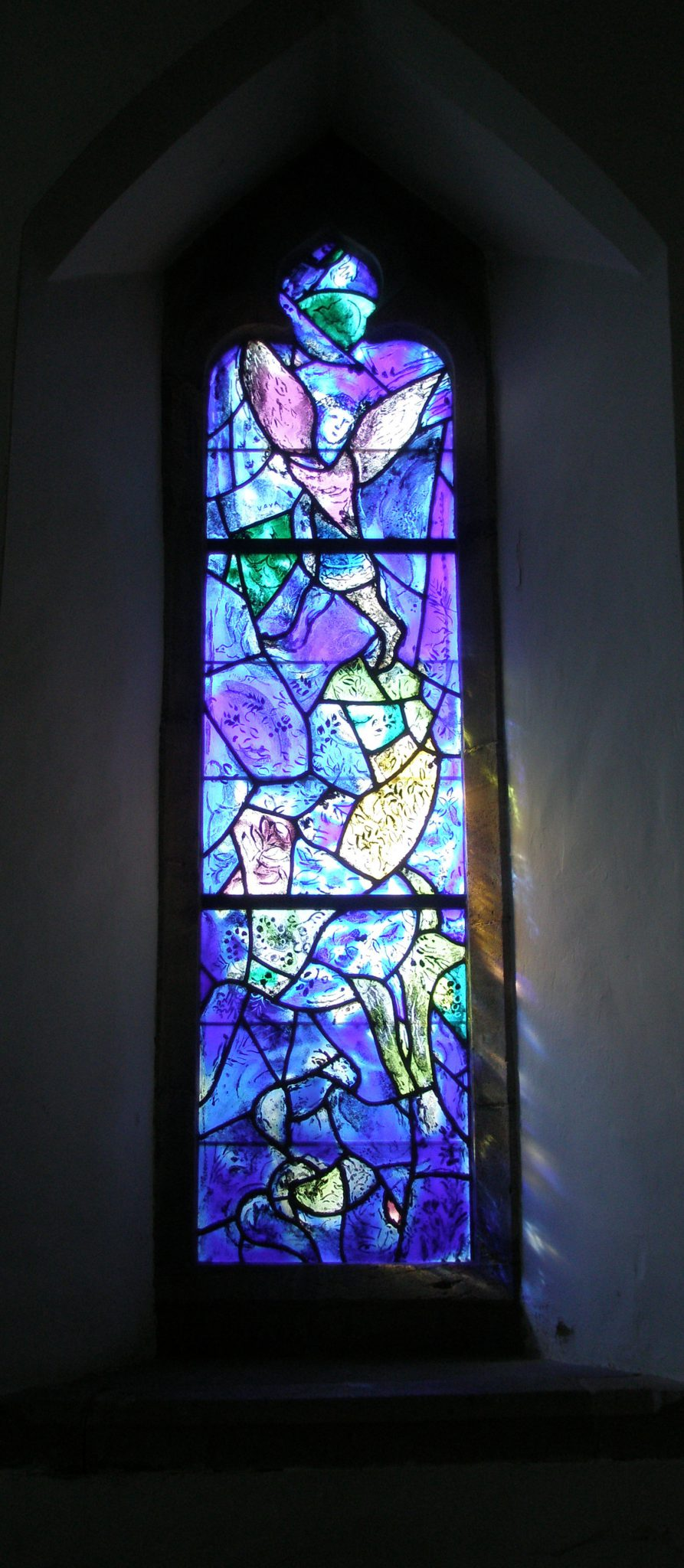 Window by Marc Chagall, at All Saints Church