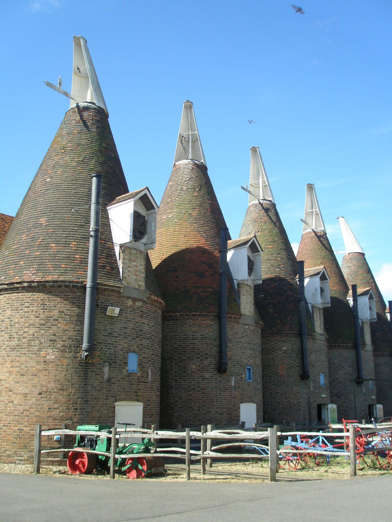 A full view of the Oast Houses at The Hop Farm Family Park