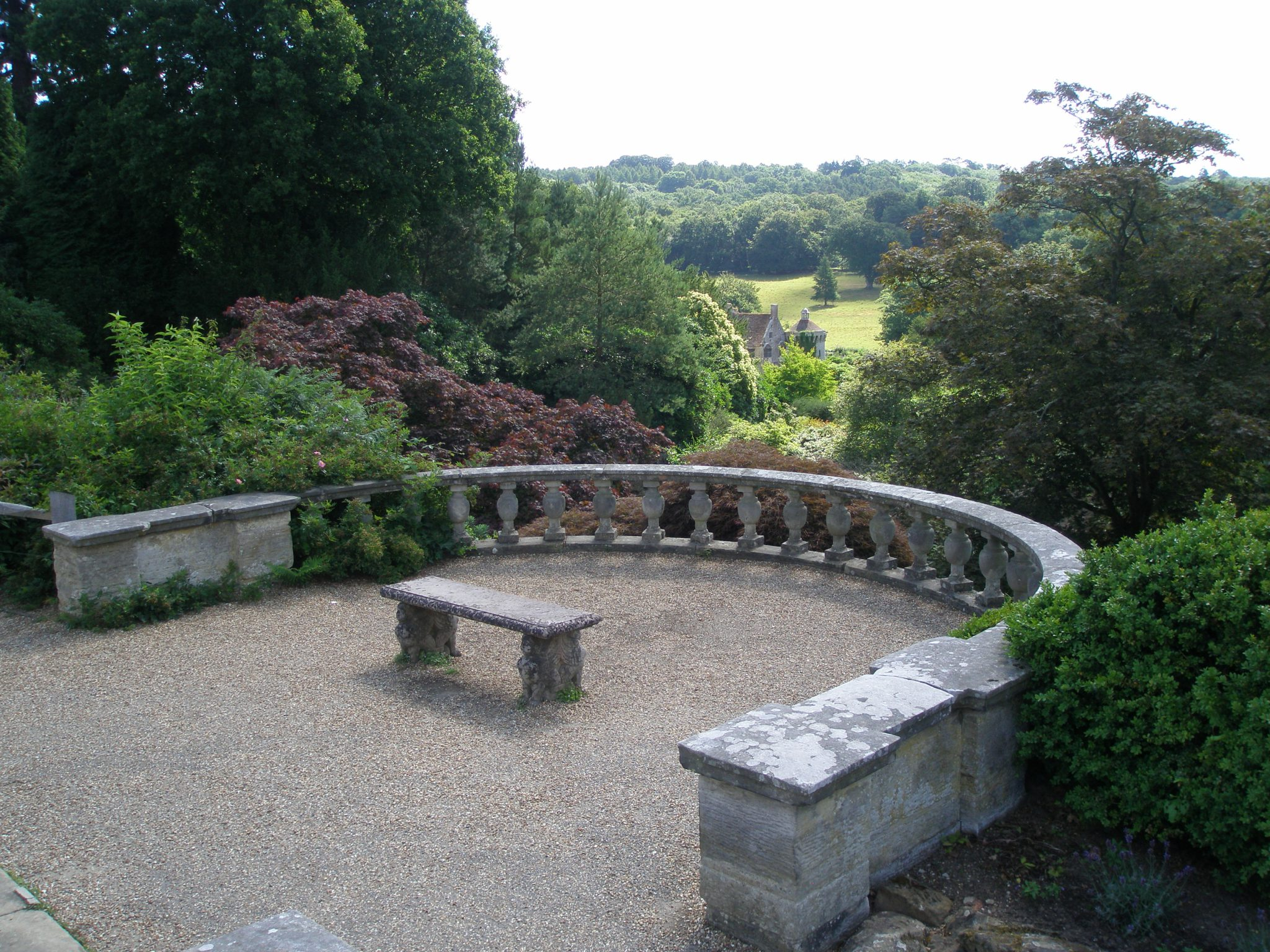 A closer look at the Bastion View's balustrade. The Quarry Garden begins directly below the balustrade.