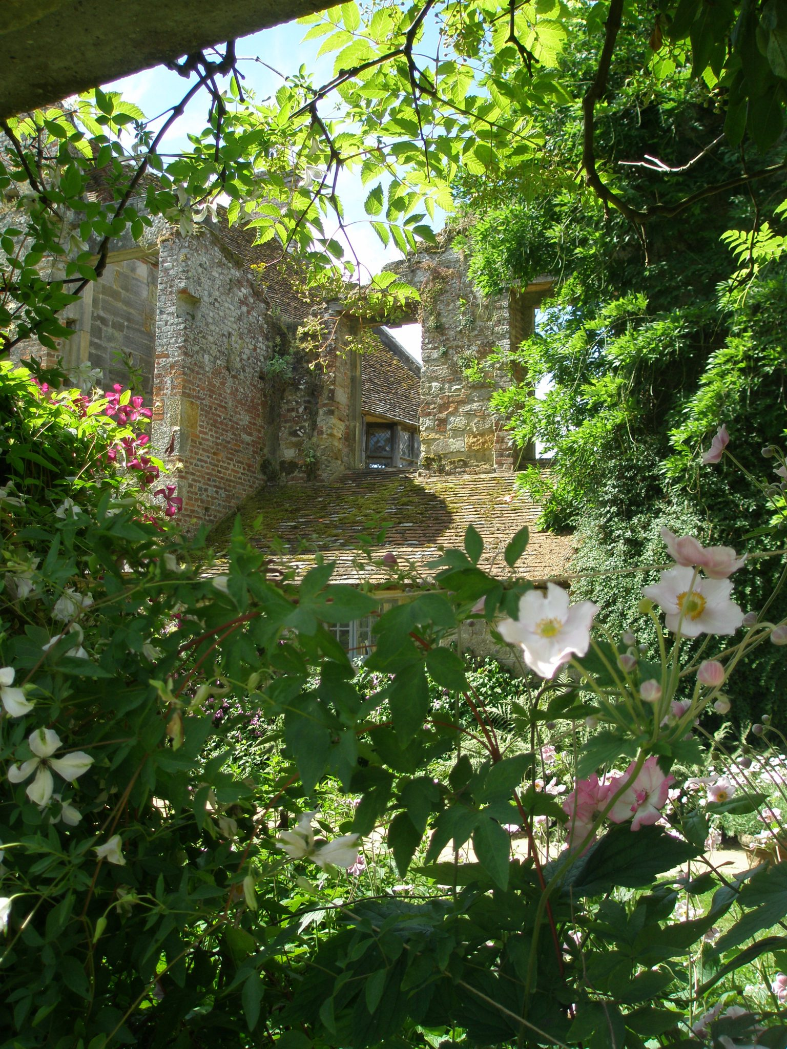 Inside the small, walled Old Castle Garden
