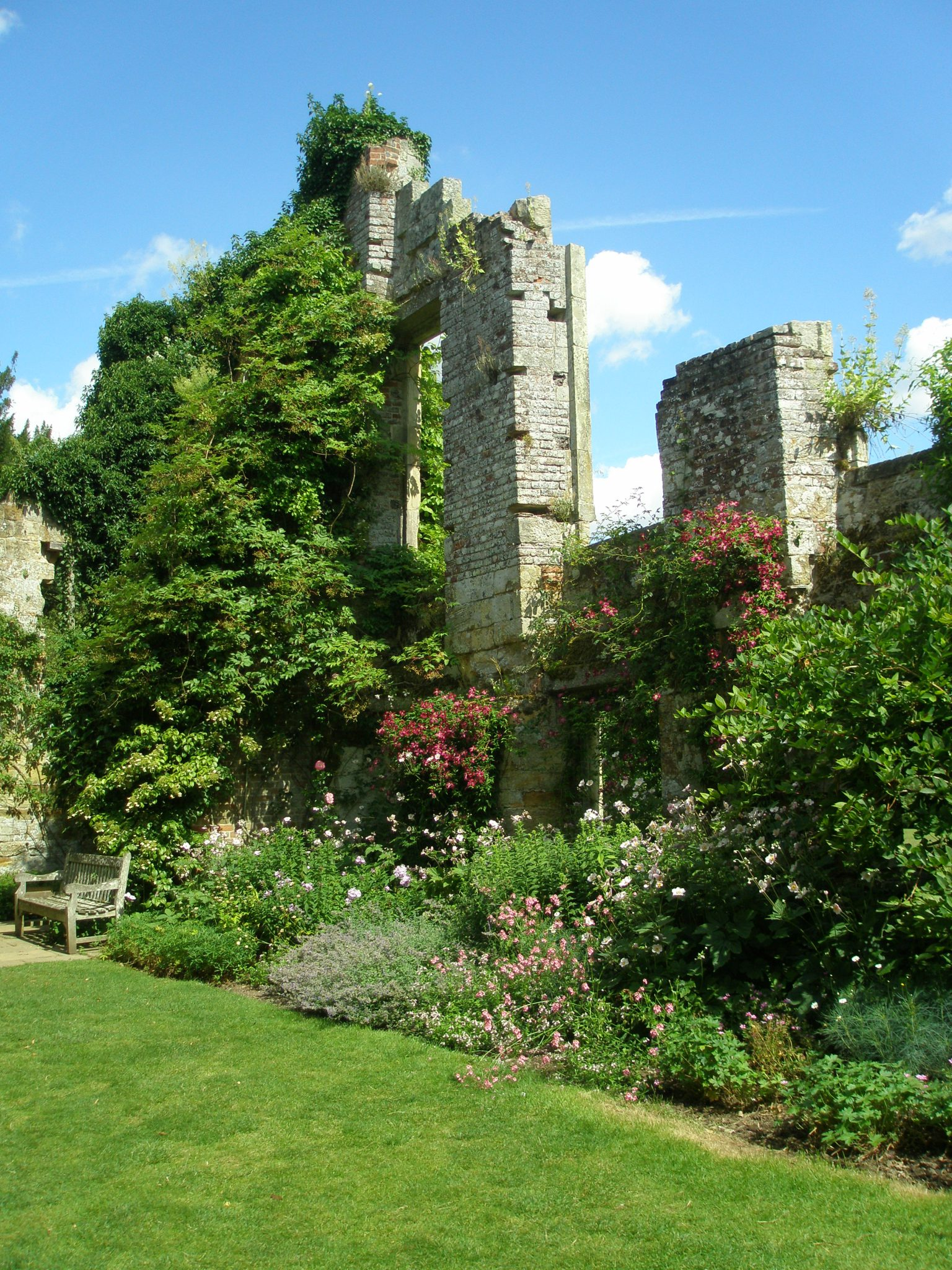 Inside the Old Castle's small, walled garden
