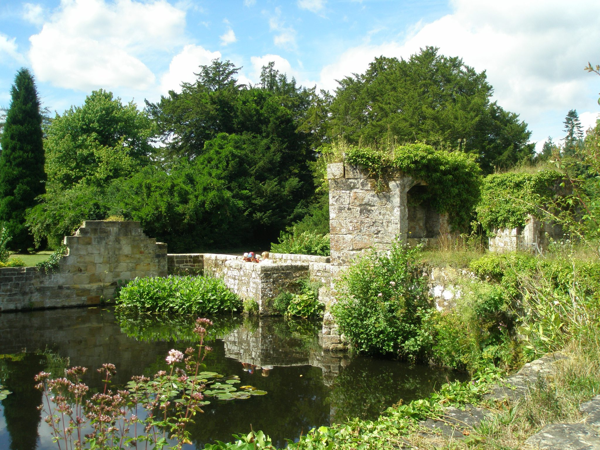 We prepared to leave the Old Castle Gardens, via the bridge across the Moat