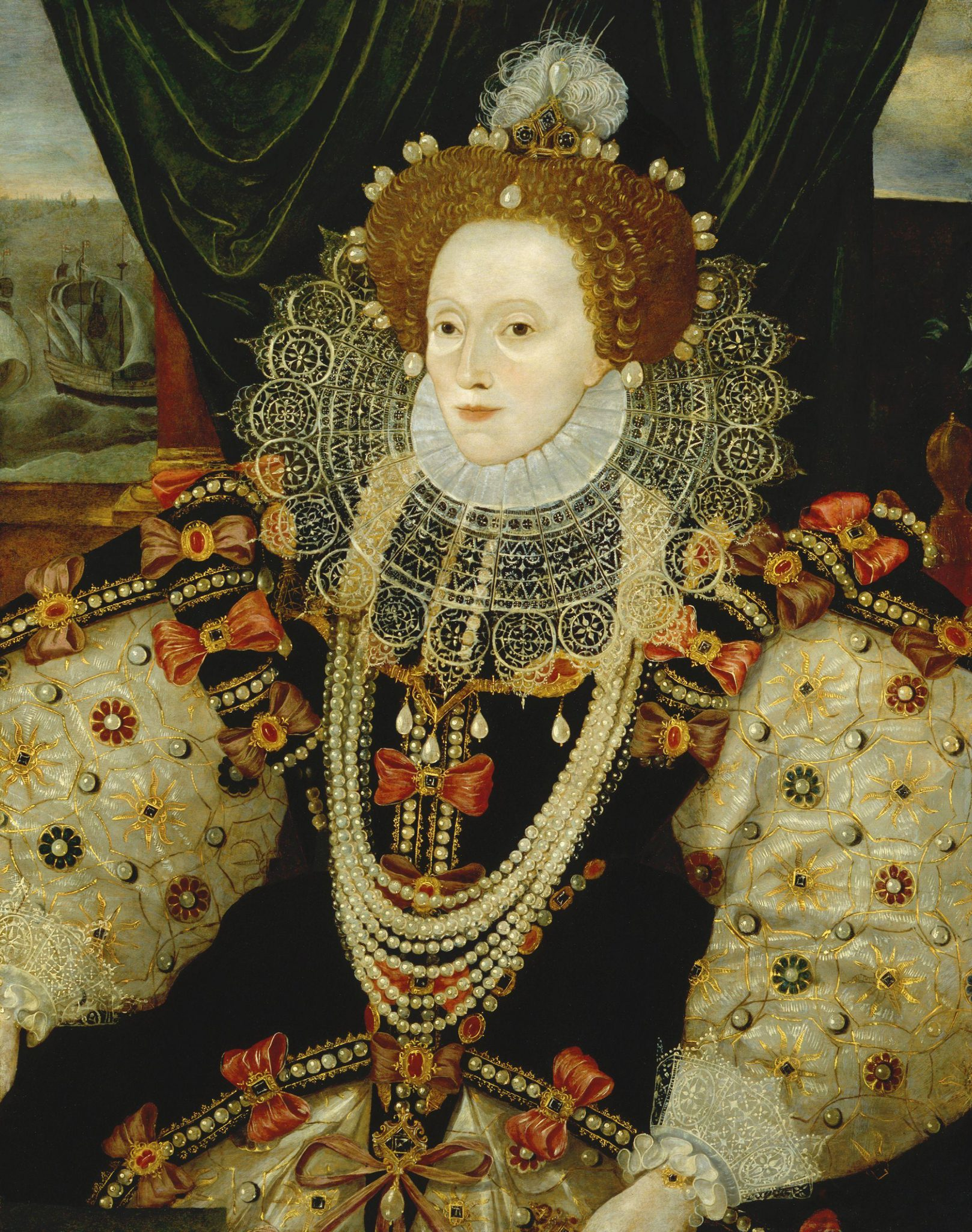 Queen Elizabeth I, daughter of Anne Boleyn and Henry VIII, was England's last Tudor monarch. She ruled from 1558--1603, and her reign is generally considered one of the most glorious in English history.