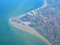 Aerial view of Dungeness