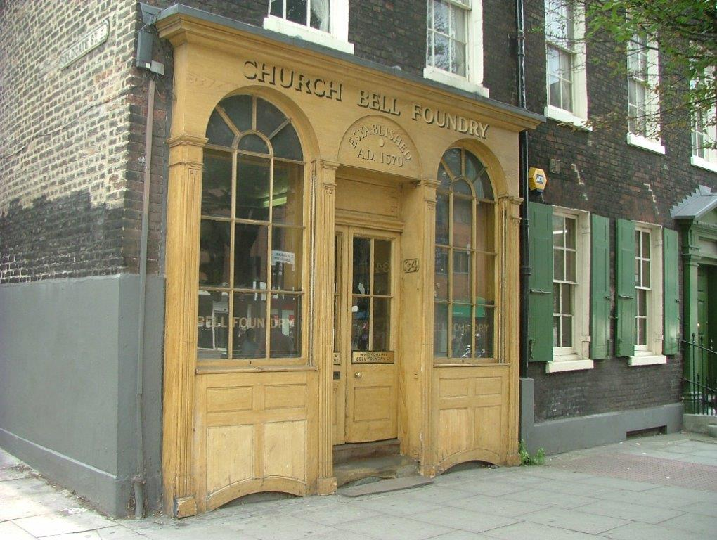 And now, a digression: This is the Whitechapel Bell Foundry, in London. In continuous operation since 1570, the Foundry is Britain's oldest business. 32/34 Whitechapel Road, London, E1 1DY. www.whitechapelbellfoundry.co.uk. Photo courtesy of Anne Guy.