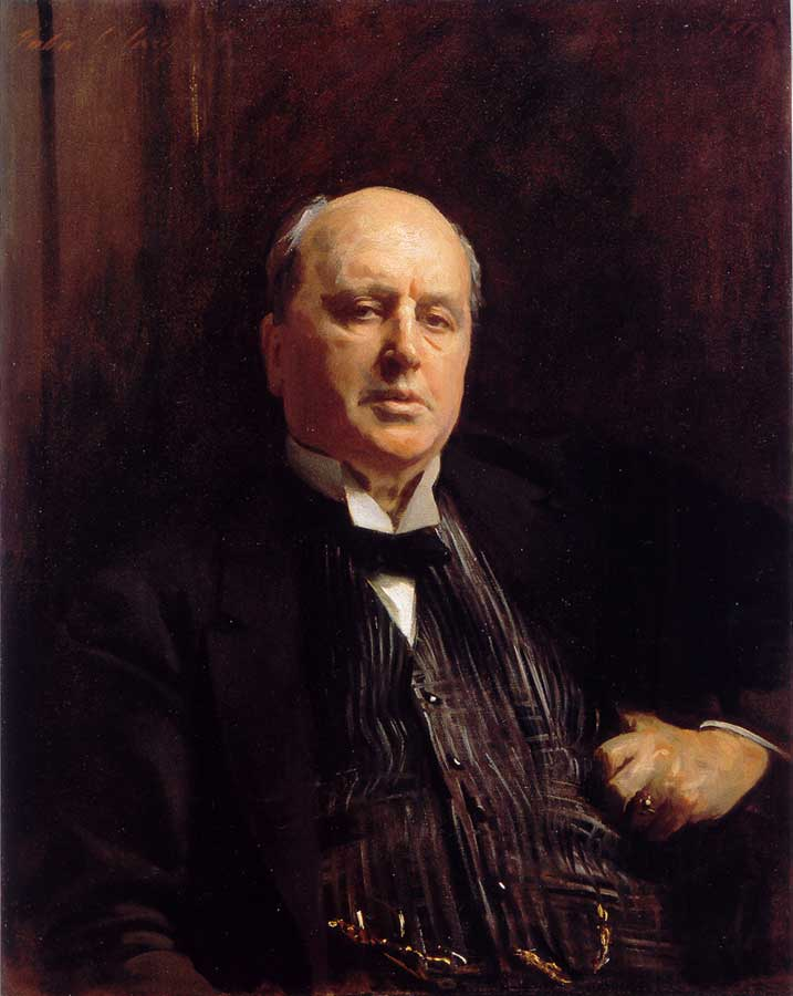 American-born author, Henry James. Painting by John Singer Sargent.