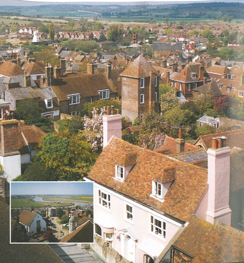 Had the day been sunny, a Church-Tower-climb would have been in order. Here's the view over Rye, from the Church tower. Image courtesy of Ann Lockhart.