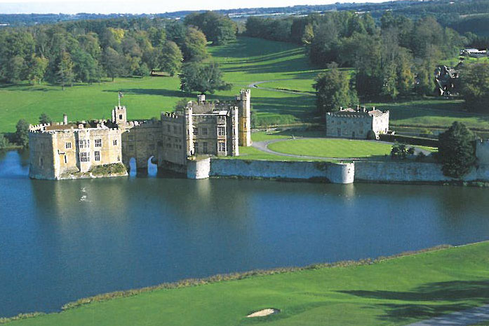 A duck's-eye view of Leeds Castle.