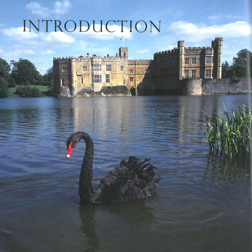 The approach to Leeds Castle, with one of the Estate's omni-present Black Swans. Lady Baillie was the first person to import black swans from their native Australia to the United Kingdom. Image courtesy of Leeds Castle.