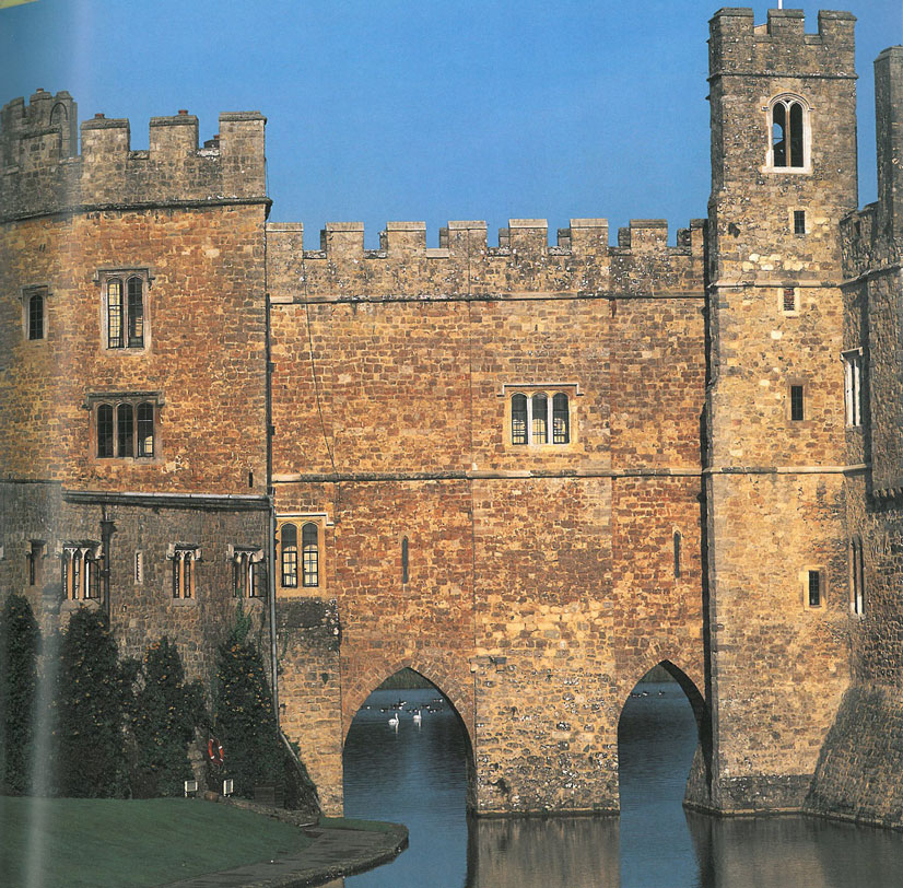 Another view of the Bridge Corridors. During Norman times, a wooden drawbridge was here. Later on, the massive, multi-storey bridge appeared. The Bridge Corridors that we use today were reconstructed in the 19th century. Image courtesy of Leeds Castle.