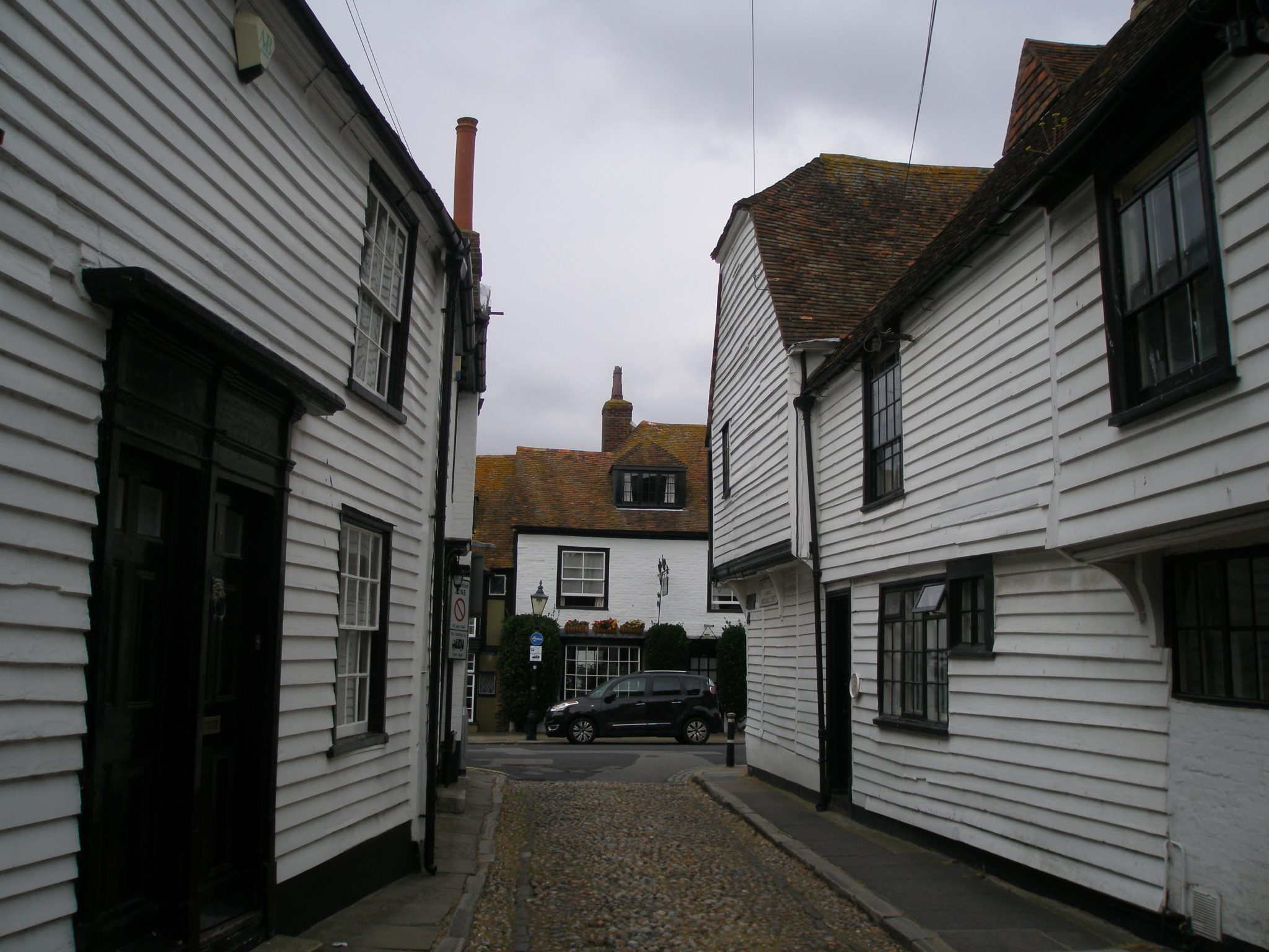 A narrow street, near the Church