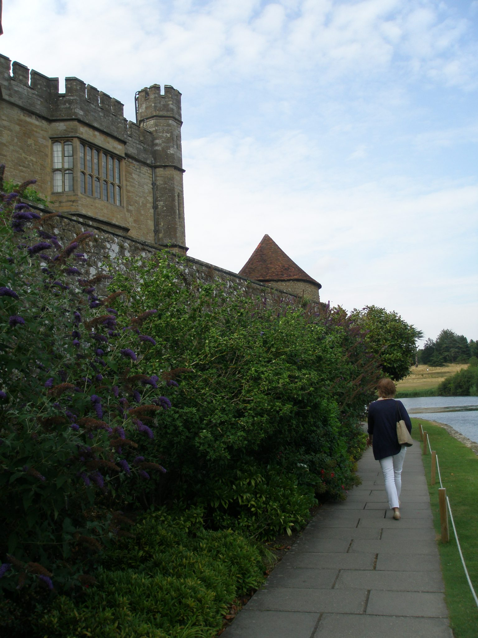 But what I most wanted to see was the oldest part of Leeds Castle, the Gloriette. To get there, Amanda led me along a waterside path.
