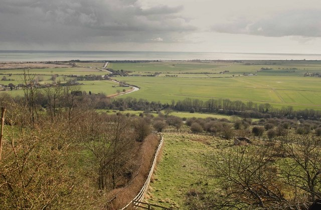A gull's-eye view of Romney Marsh, and the English Channel