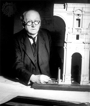 Architect Edwin Lutyens, who began his prolific architectural practice in 1888. Born 1869, died 1944)