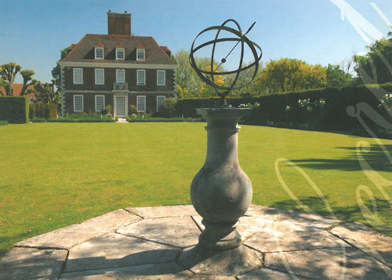 The Armillary, on The Salutation's Bowling Lawn...before the deluge. Image courtesy of The Salutation.