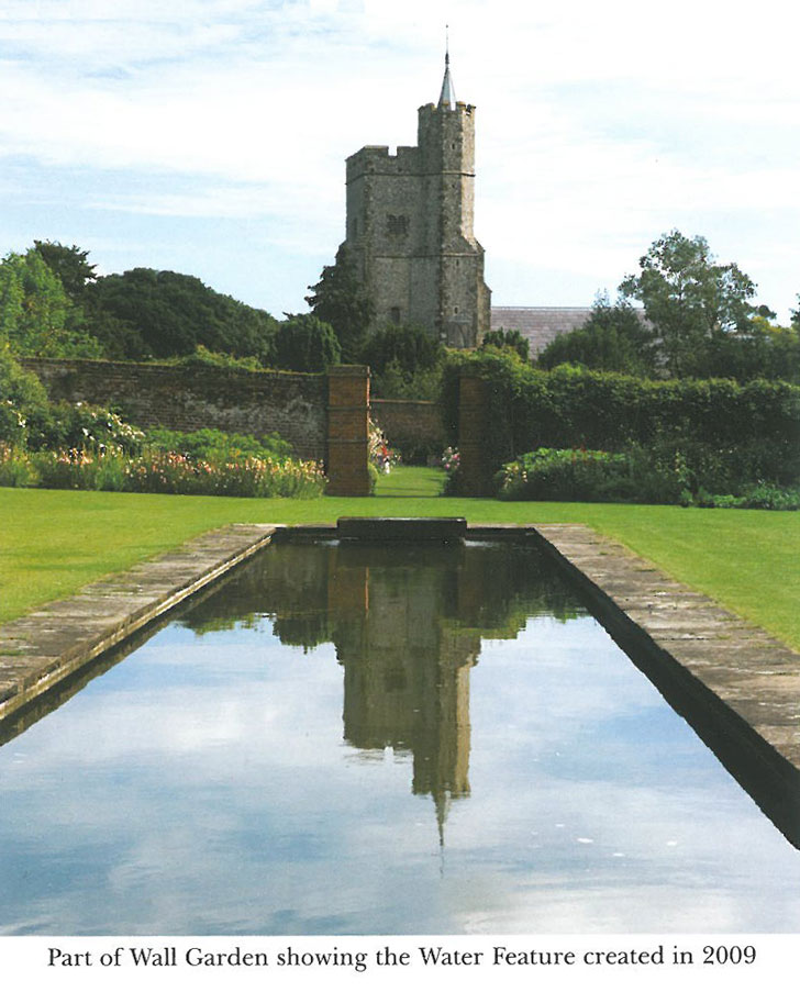 On a sunnier day, this is the view from inside the Walled Garden. Image courtesy of Goodnestone Park.