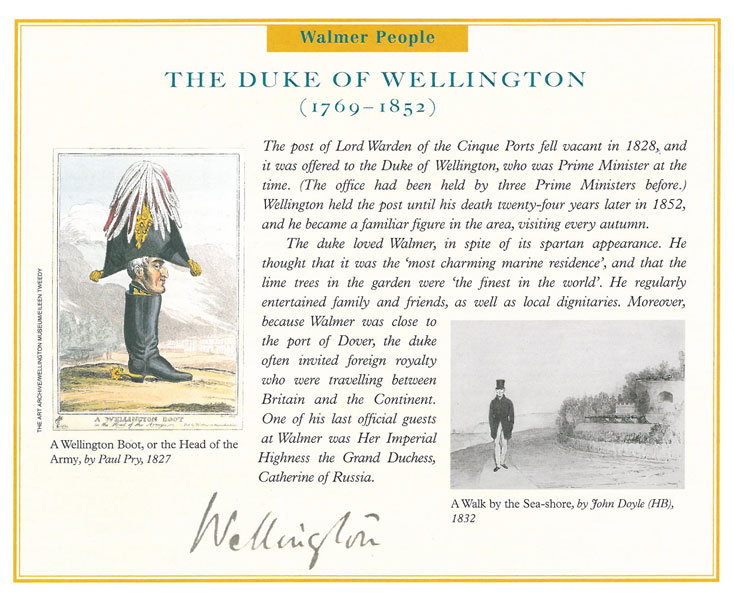 The Duke of Wellington loved Walmer (well...who wouldn't?). Image courtesy of Walmer Castle.