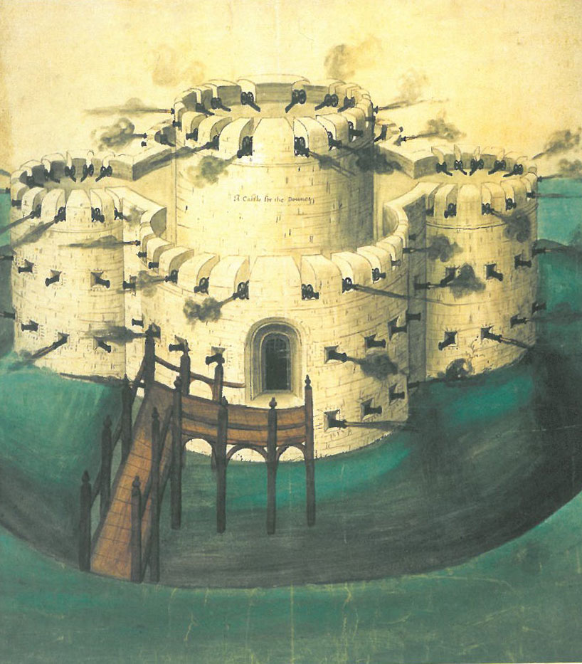 The artillery forts built along the Kent coast all followed this basic design. Image courtesy of Walmer Castle.