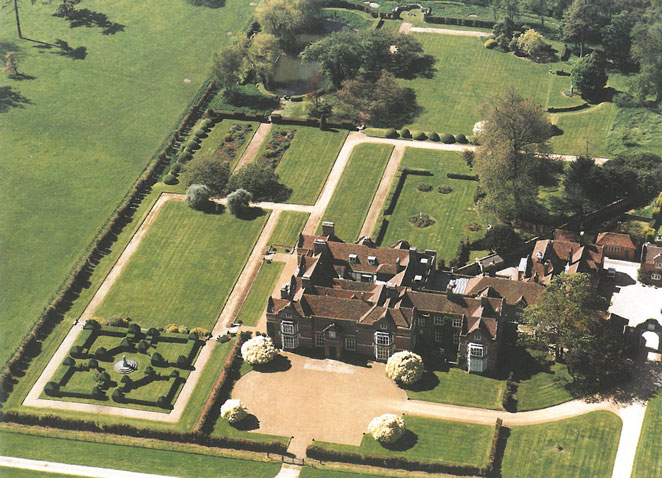 Aerial view of the House, at Godinton. Image courtesy of Godinton.