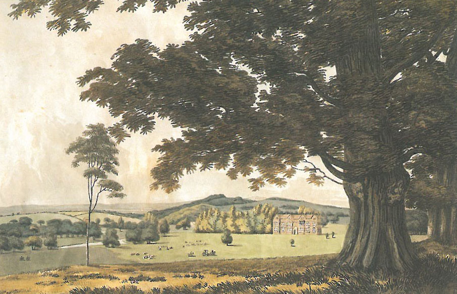 Watercolor of Godinton, circa 1790. By John George Wood. Image courtesy of Godinton.