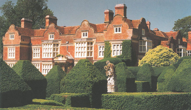 A view from the fields beyond the Pan Garden, toward the East Front of the House at Godinton. Image courtesy of Godinton.